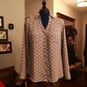 Express Long Sleeve Portafino Shirt - Medium